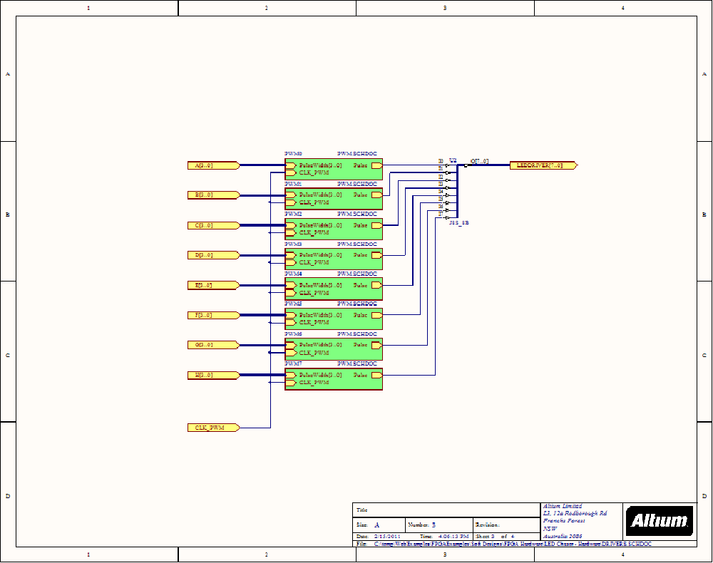 Led Chaser Hardware Nb2 Nanoboard Example Designs Circuit On 3 Diagram Of Using The Leds Schematic