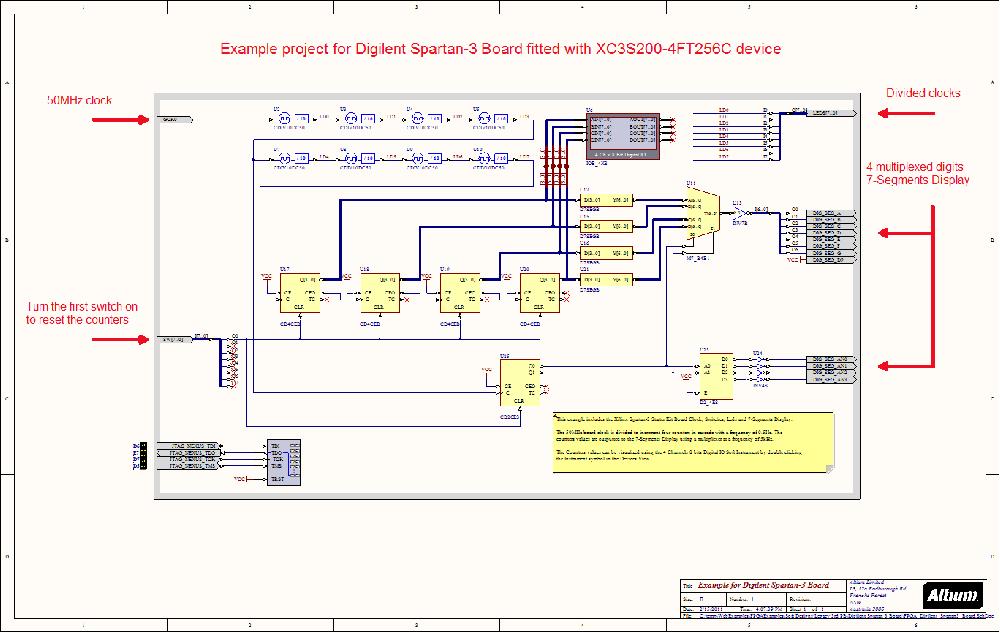 Digilent Spartan-3 Dev  Board - NanoBoard Example Designs